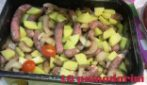Baked sausages with potatoes and mushrooms: quick, tasty recipe