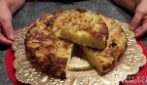 Baked omelet with potato and onion: simple and tasty recipe