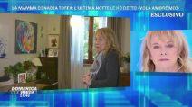 Domenica Live, i ricordi di Nadia Toffa nella casa dei genitori
