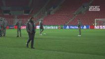 Champions League: Inter, la rifinitura a Praga