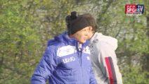 Bologna, Sinisa Mihajlovic dirige l'allenamento