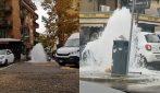 Roma, una strana fontana zampilla in via Alessandrino: è una grossa perdita d'acqua