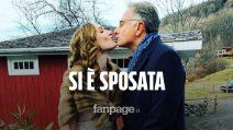 """Si è sposata Martina, la figlia di Paolo Bonolis: """"Sogno di diventare presto nonno"""""""