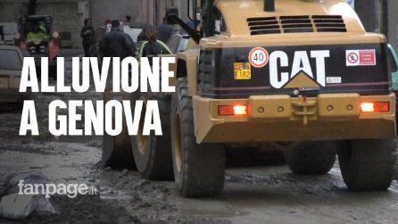"""Maltempo in Liguria, la Valpolcevera travolta dal fango: """"Dopo il Ponte Morandi lasciati da soli"""""""