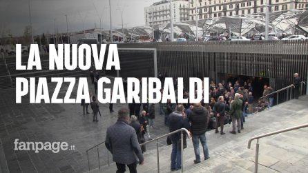"""Napoli, riapre piazza Garibaldi con alberi e aree sportive: """"Ora bisogna mantenerla pulita e ordinata"""""""