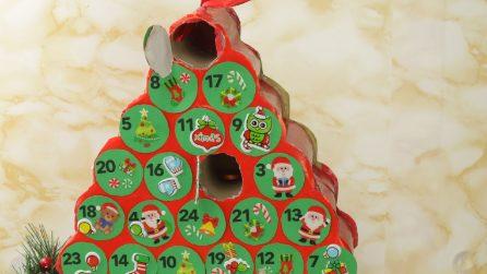 Calendario dell'avvento: ecco come farlo in casa riciclando dei contenitori di carta igienica!