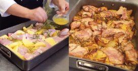 Pollo al forno con patate: il metodo per averlo davvero saporito
