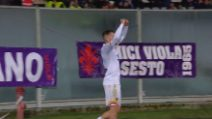 Serie A: Fiorentina-Lecce, il gol di La Mantia