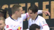 Schick, il primo gol al Lipsia è un'autentica magia