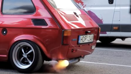 """La Fiat 126 diventa super potente e """"spara"""" scintille"""