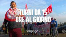 Ambruosi&Viscardi: tir minaccia di investire operai che scioperano
