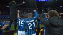 Champions: Epica Atalanta, la festa dopo la qualificazione agli ottavi
