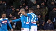Napoli, rimonta vincente all'ultimo secondo col Sassuolo
