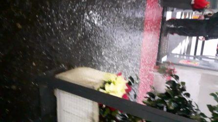 Maltempo Napoli: violenta grandinata sulla città