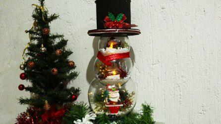Pupazzo di neve con 3 bocce per pesci: l'idea unica e geniale!