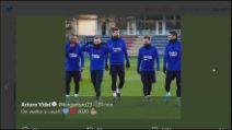 """Calciomercato, Vidal twitta: """"Barcellona, tornato a casa"""""""
