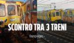 那不勒斯地铁事故在Piscinola的火车相撞而受伤