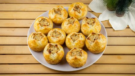 Puff pastry meatballs bundles: easy, quick and tasty!