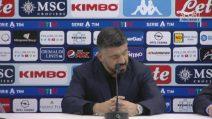 """Napoli, Gattuso: """"Rimprovero solo gli errori difensivi"""""""