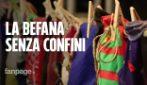 """La Befana senza confini con Don Pasta: """"Una calza e un pasto sospeso e le feste sono di tutti"""""""