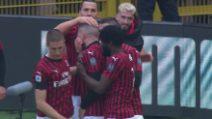 Milan-Udinese, il gol vittoria di Rebic