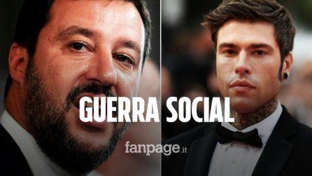"""Scontro tra Fedez e Matteo Salvini: """"Io ero ad Ibiza da rapper. Tu al Papete da Ministro"""""""