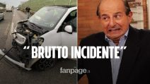 """Incidente in auto per Giancarlo Magalli: """"Brutto, ma non si è fatto male nessuno"""""""