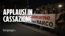"""Omicidio Vannini, la gioia della folla dopo la decisione della Cassazione: """"Processo da rifare"""""""