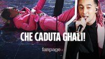 Sanremo 2020, Ghali cade dalle scale del Festival: ma la realtà è un'altra