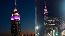 L'Empire State Building si colora per Kobe
