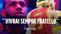 """Il commovente discorso di LeBron James dedicato a Kobe Bryant: """"Vivrai per sempre fratello"""""""