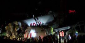 Istanbul, aereo si spezza in tre parti: ci sono feriti