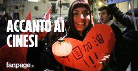 """Coronavirus, a Napoli flash mob in solidarietà con i cinesi: """"Clima assurdo, basta razzismo"""""""