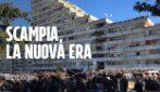 A Scampia è iniziato l'abbattimento della Vela verde