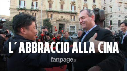 """Coronavirus, a Napoli flash mob in sostegno della comunità cinese.""""Grazie,l'umanità fa la differenza"""""""