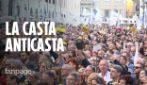 """Il M5S prova a ripartire dagli slogan anti-casta: """"Ci vogliono archiviare, ma non siamo morti"""""""