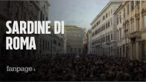 """Le Sardine di Roma sfidano a distanza Salvini: """"I decreti sicurezza vanno abrogati"""""""