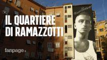 """Lamaro: un murales per Eros Ramazzotti. Gli amici del quartieri: """"Lui c'è sempre per noi"""""""