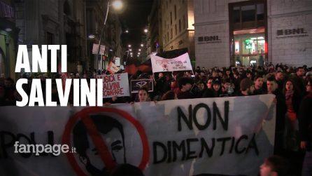 Napoli, anti Salvini in piazza. Tensione tra centri sociali e polizia. Flop clamoroso delle Sardine