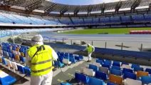 Coronavirus Napoli, sanificato lo stadio San Paolo