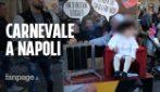 """Carnevale a Napoli: i bambini vestiti da politici, da Papa e personaggi della """"Casa di Carta"""""""