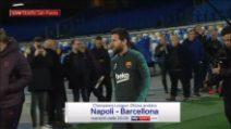 Napoli-Barcellona, Messi entra al San Paolo