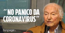 """Coronavirus, Piero Angela: """"Mai visto niente del genere a 91 anni, ma niente panico"""""""