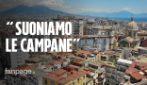 Coronavirus Napoli: le chiese fanno suonare le campane a festa a mezzogiorno nella città deserta
