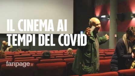 """Roma, al cinema ma un metro di distanza per il coronavirus: """"C'è voglia di distrarsi"""""""
