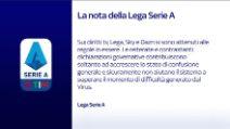 """Lega Serie A: """"Sempre rispettate le misure del Governo"""""""