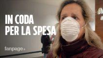 Coronavirus Milano, code e distanza di sicurezza ai supermercati nella prima domenica di quarantena