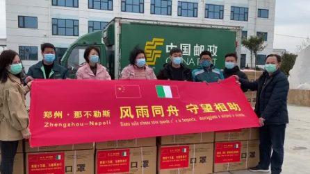 Partite dalla Cina 50mila mascherine per Napoli