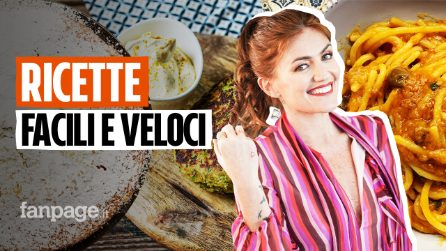 Tre ricette facili e veloci di Chiara Maci: torta all'acqua, spaghettoni e burger di zucchine