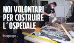 Il grande cuore di Bergamo, tutti volontari per costruire il nuovo ospedale per il coronavirus
